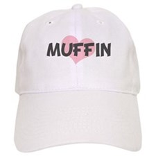 MUFFIN (pink heart) Baseball Cap