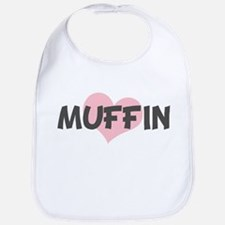 MUFFIN (pink heart) Bib