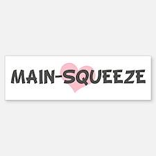 MAIN-SQUEEZE (pink heart) Bumper Car Car Sticker