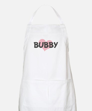 BUBBY (pink heart) BBQ Apron