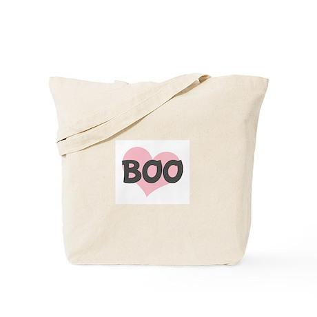 BOO (pink heart) Tote Bag
