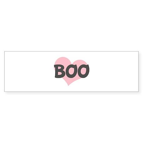BOO (pink heart) Bumper Sticker