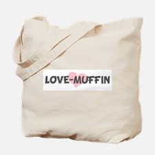 LOVE-MUFFIN (pink heart) Tote Bag