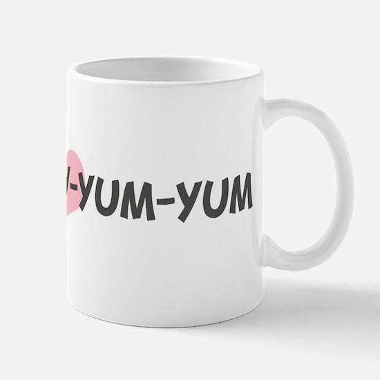 BIG-DADDY-YUM-YUM (pink heart Mug