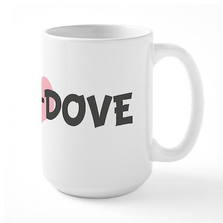 LITTLE-DOVE (pink heart) Large Mug
