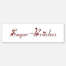 Sugar-Britches (hearts) Bumper Car Car Sticker