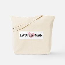 LADIES-MAN (pink heart) Tote Bag