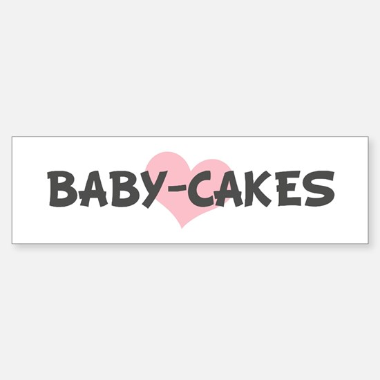 BABY-CAKES (pink heart) Bumper Car Car Sticker
