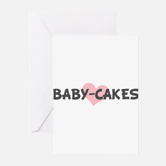 BABY-CAKES (pink heart) Greeting Cards (Pk of 10)