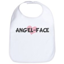 ANGEL-FACE (pink heart) Bib