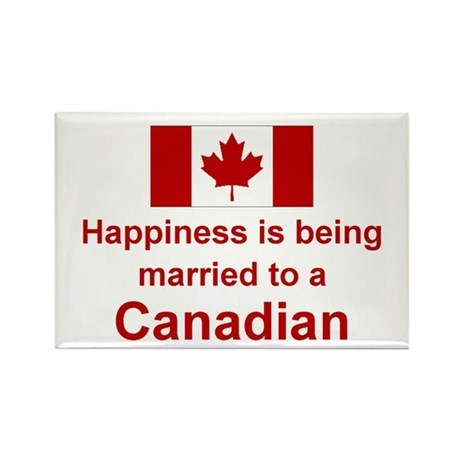 Happily Married To Canadian Rectangle Magnet