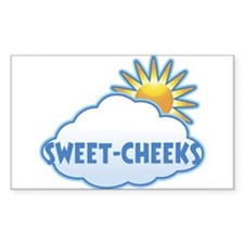 sweet-cheeks (clouds) Rectangle Decal