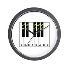 Piano Note Names Wall Clock