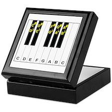 Piano Note Names Keepsake Box