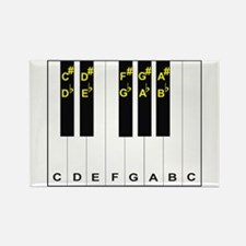 Piano Note Names Rectangle Magnet (10 pack)