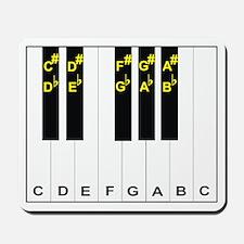 Piano Note Names Mousepad