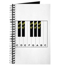 Piano Note Names Journal