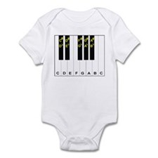Piano Note Names Infant Bodysuit