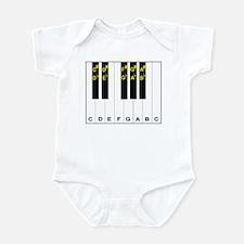 Piano Note Names Infant Bodysuit