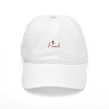 Peach (hearts) Baseball Cap