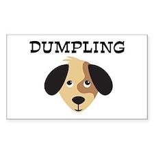 DUMPLING (dog) Rectangle Decal