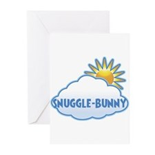 Unique Snuggle bunny Greeting Cards (Pk of 10)