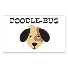 DOODLE-BUG (dog) Rectangle Decal