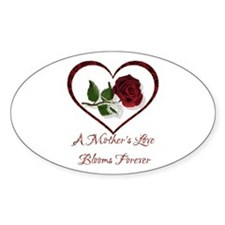 A Mother's Love Oval Decal