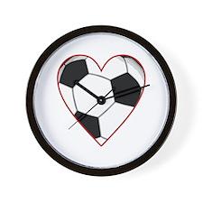Valentine Soccer Heart Wall Clock