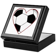 Valentine Soccer Heart Keepsake Box