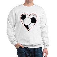 Valentine Soccer Heart Sweatshirt