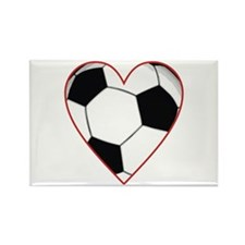Valentine Soccer Heart Rectangle Magnet