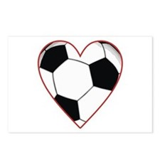 Valentine Soccer Heart Postcards (Package of 8)