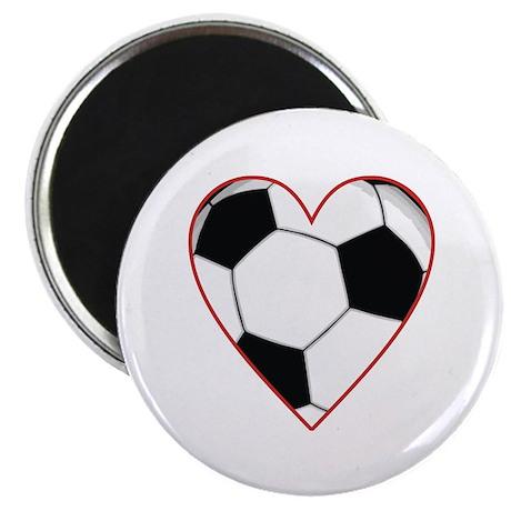 """Valentine Soccer Heart 2.25"""" Magnet (100 pack)"""