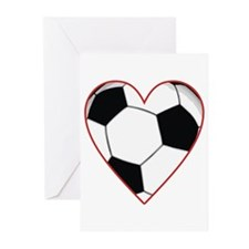 Valentine Soccer Heart Greeting Cards (Pk of 10)