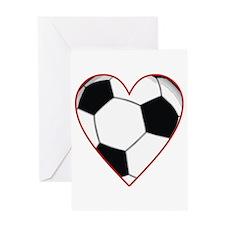 Valentine Soccer Heart Greeting Card