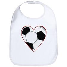 Valentine Soccer Heart Bib