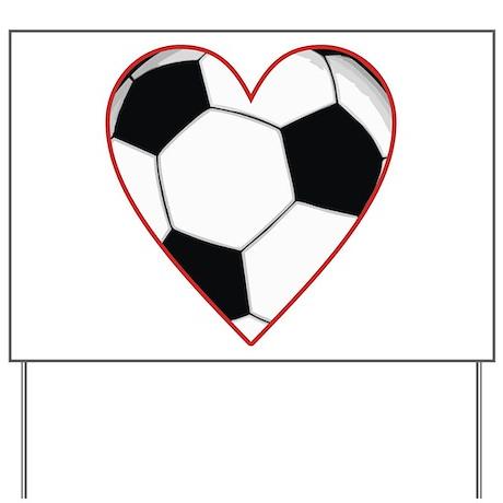 Valentine Soccer Heart Yard Sign