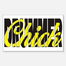 Drummer Chick Rectangle Decal