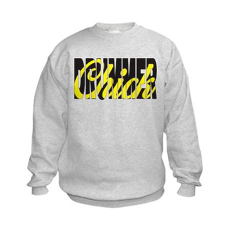 Drummer Chick Kids Sweatshirt