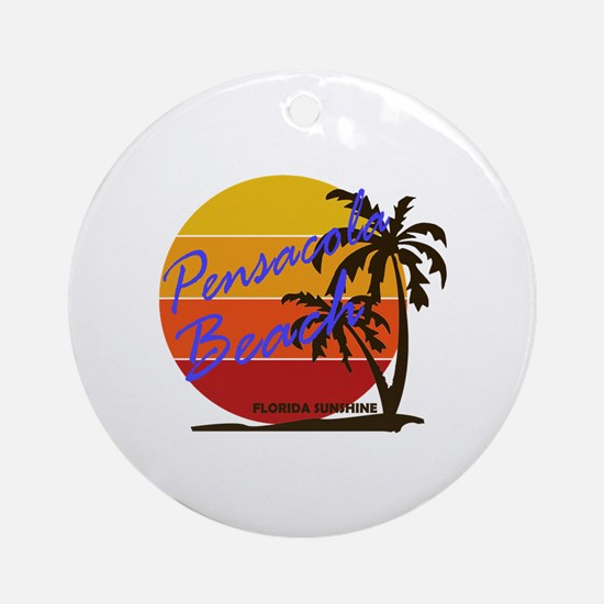 Pensacola beach Round Ornament