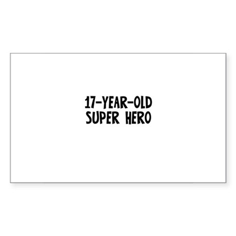 17-Year-Old Super Hero Rectangle Sticker