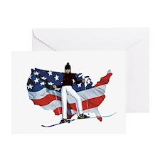 Top Prospect Ski Greeting Card