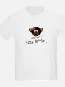 PopPop's Little Monkey GIRL T-Shirt