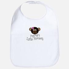 PopPop's Little Monkey GIRL Bib