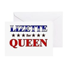 LIZETTE for queen Greeting Card