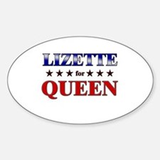 LIZETTE for queen Oval Decal