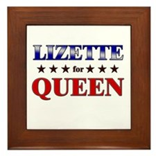 LIZETTE for queen Framed Tile