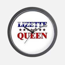 LIZETTE for queen Wall Clock