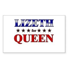 LIZETH for queen Rectangle Decal